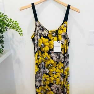 Who what wear. Yellow and black floral dress
